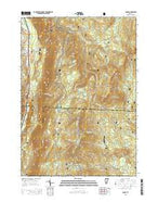 Danby Vermont Current topographic map, 1:24000 scale, 7.5 X 7.5 Minute, Year 2015 from Vermont Map Store
