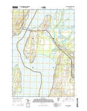 East Alburg Vermont Current topographic map, 1:24000 scale, 7.5 X 7.5 Minute, Year 2015 from Vermont Maps Store