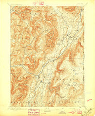 Equinox Vermont Historical topographic map, 1:62500 scale, 15 X 15 Minute, Year 1896