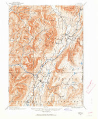 Equinox Vermont Historical topographic map, 1:62500 scale, 15 X 15 Minute, Year 1894