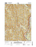 Hartland Vermont Current topographic map, 1:24000 scale, 7.5 X 7.5 Minute, Year 2015 from Vermont Map Store