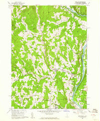 Hartland Vermont Historical topographic map, 1:24000 scale, 7.5 X 7.5 Minute, Year 1959