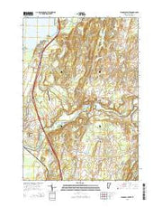 Highgate Center Vermont Current topographic map, 1:24000 scale, 7.5 X 7.5 Minute, Year 2015 from Vermont Maps Store