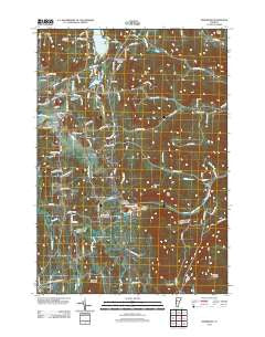 Hinesburg Vermont Historical topographic map, 1:24000 scale, 7.5 X 7.5 Minute, Year 2012