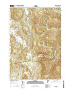 Hinesburg Vermont Current topographic map, 1:24000 scale, 7.5 X 7.5 Minute, Year 2015 from Vermont Map Store