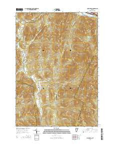 Huntington Vermont Current topographic map, 1:24000 scale, 7.5 X 7.5 Minute, Year 2015