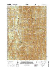 Lincoln Vermont Current topographic map, 1:24000 scale, 7.5 X 7.5 Minute, Year 2015 from Vermont Maps Store