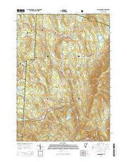 Londonderry Vermont Current topographic map, 1:24000 scale, 7.5 X 7.5 Minute, Year 2015 from Vermont Maps Store