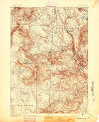 Londonderry Vermont Historical topographic map, 1:62500 scale, 15 X 15 Minute, Year 1894