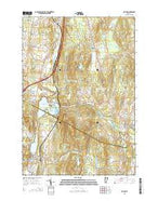 Milton Vermont Current topographic map, 1:24000 scale, 7.5 X 7.5 Minute, Year 2015 from Vermont Map Store
