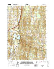 Milton Vermont Current topographic map, 1:24000 scale, 7.5 X 7.5 Minute, Year 2015 from Vermont Maps Store