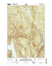Morgan Center Vermont Current topographic map, 1:24000 scale, 7.5 X 7.5 Minute, Year 2015 from Vermont Maps Store