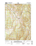 Newport Center Vermont Current topographic map, 1:24000 scale, 7.5 X 7.5 Minute, Year 2015 from Vermont Map Store
