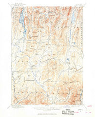 Pawlet Vermont Historical topographic map, 1:62500 scale, 15 X 15 Minute, Year 1894