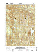 Peacham Vermont Current topographic map, 1:24000 scale, 7.5 X 7.5 Minute, Year 2015 from Vermont Map Store