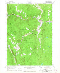 Plymouth Vermont Historical topographic map, 1:24000 scale, 7.5 X 7.5 Minute, Year 1966