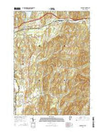 Poultney Vermont Current topographic map, 1:24000 scale, 7.5 X 7.5 Minute, Year 2015 from Vermont Map Store