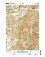 Poultney Vermont Current topographic map, 1:24000 scale, 7.5 X 7.5 Minute, Year 2015 from Vermont Maps Store