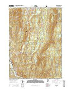Pownal Vermont Current topographic map, 1:24000 scale, 7.5 X 7.5 Minute, Year 2015 from Vermont Map Store