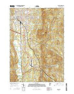 Rutland Vermont Current topographic map, 1:24000 scale, 7.5 X 7.5 Minute, Year 2015 from Vermont Map Store