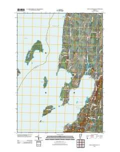 Saint Albans Bay Vermont Historical topographic map, 1:24000 scale, 7.5 X 7.5 Minute, Year 2012