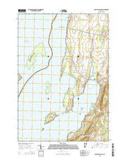 Saint Albans Bay Vermont Current topographic map, 1:24000 scale, 7.5 X 7.5 Minute, Year 2015 from Vermont Maps Store
