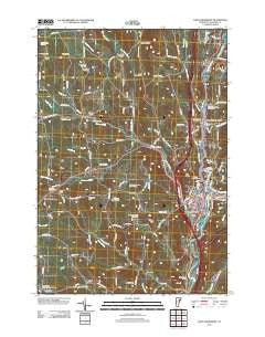 Saint Johnsbury Vermont Historical topographic map, 1:24000 scale, 7.5 X 7.5 Minute, Year 2012