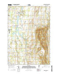 Snake Mountain Vermont Current topographic map, 1:24000 scale, 7.5 X 7.5 Minute, Year 2015