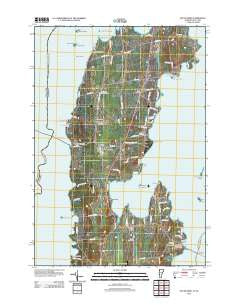 South Hero Vermont Historical topographic map, 1:24000 scale, 7.5 X 7.5 Minute, Year 2012