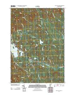Spectacle Pond Vermont Historical topographic map, 1:24000 scale, 7.5 X 7.5 Minute, Year 2012