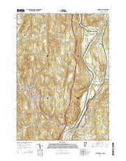 Springfield Vermont Current topographic map, 1:24000 scale, 7.5 X 7.5 Minute, Year 2015 from Vermont Maps Store