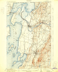 St. Albans Vermont Historical topographic map, 1:62500 scale, 15 X 15 Minute, Year 1916