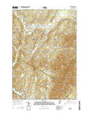 Stowe Vermont Current topographic map, 1:24000 scale, 7.5 X 7.5 Minute, Year 2015 from Vermont Maps Store