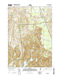 Sudbury Vermont Current topographic map, 1:24000 scale, 7.5 X 7.5 Minute, Year 2015