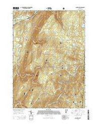 Sunderland Vermont Current topographic map, 1:24000 scale, 7.5 X 7.5 Minute, Year 2015