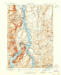 Ticonderoga New York Historical topographic map, 1:62500 scale, 15 X 15 Minute, Year 1894