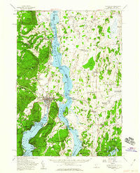 Ticonderoga New York Historical topographic map, 1:62500 scale, 15 X 15 Minute, Year 1950