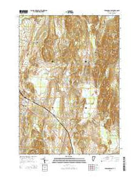 Vergennes East Vermont Current topographic map, 1:24000 scale, 7.5 X 7.5 Minute, Year 2015