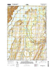 Vergennes West Vermont Current topographic map, 1:24000 scale, 7.5 X 7.5 Minute, Year 2015 from Vermont Maps Store