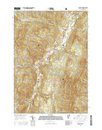 Waitsfield Vermont Current topographic map, 1:24000 scale, 7.5 X 7.5 Minute, Year 2015 from Vermont Map Store