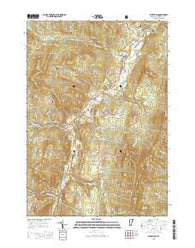 Waitsfield Vermont Current topographic map, 1:24000 scale, 7.5 X 7.5 Minute, Year 2015