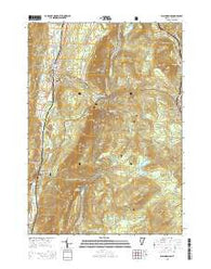 Wallingford Vermont Current topographic map, 1:24000 scale, 7.5 X 7.5 Minute, Year 2015