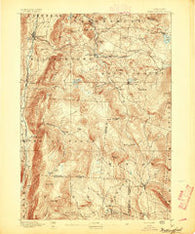 Wallingford Vermont Historical topographic map, 1:62500 scale, 15 X 15 Minute, Year 1893