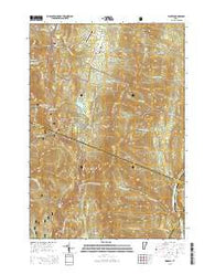 Warren Vermont Current topographic map, 1:24000 scale, 7.5 X 7.5 Minute, Year 2015