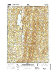 Wells Vermont Current topographic map, 1:24000 scale, 7.5 X 7.5 Minute, Year 2015