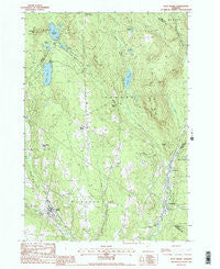 West Burke Vermont Historical topographic map, 1:24000 scale, 7.5 X 7.5 Minute, Year 1988