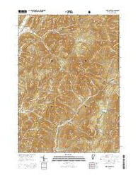 West Rupert Vermont Current topographic map, 1:24000 scale, 7.5 X 7.5 Minute, Year 2015