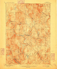 Wilmington Vermont Historical topographic map, 1:62500 scale, 15 X 15 Minute, Year 1889