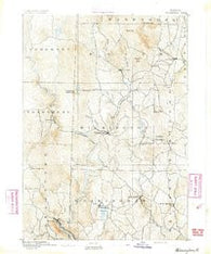 Wilmington Vermont Historical topographic map, 1:62500 scale, 15 X 15 Minute, Year 1891