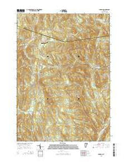Windham Vermont Current topographic map, 1:24000 scale, 7.5 X 7.5 Minute, Year 2015 from Vermont Maps Store